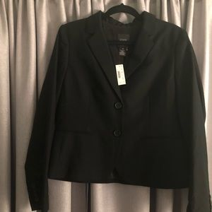 Brand New Black Jcrew Super 120's Blazer Size 10